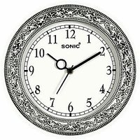 Sonic Wall Clock In BlackBrown And White