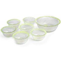 Pudding Set Fluorescent Coloured - 7 Pcs (One Large Bowl And Six Small Bowl)