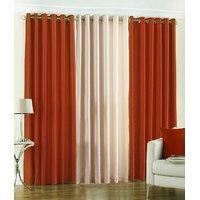 BSB Trendz Plain Window curtain Set Of 3