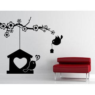 Creatick Studio Bids Nest Love Wall Sticker22x20Inch