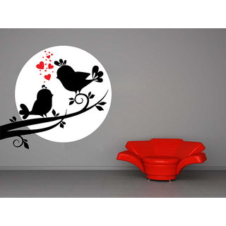 Creatick Studio Love Bird In Moon Light Wall Sticker27x25Inch class=