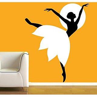 Creatick Studio Girl Moon Light dance Wall Sticker18x22Inch