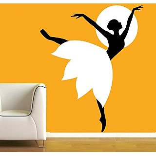 Creatick Studio Girl Moon Light dance Wall Sticker30x37Inch