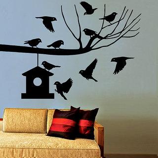 Creatick Studio Birds Nest Wall Sticker44x30Inch