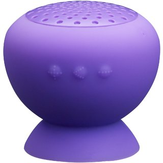 Ducasso Mushroom Shaped Bluetooth Speaker with Mic, Purple