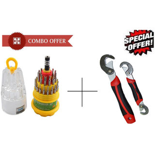 Combo of Jackly Magnetic 31 In 1 Screwdriver Set Snap N Grip