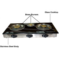 Mega Star 3 Burner Automatic Glass Top Cook Top