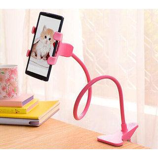 superman Universal Flexible Long Arms Mobile Phone Holder Desktop Bed Lazy Bracket Mobile Stand - Pink