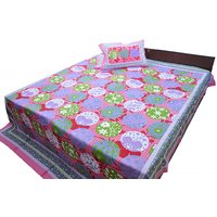 Jaipurraga Exclusive & Different Look Cotton Double Bed Sheet With Pillow Cover