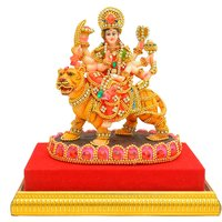 Papilon Hand Made Gold Plated Hindu Goddess Durga Maa Statue (Spiritual Idols) Dimension- 548 Inches