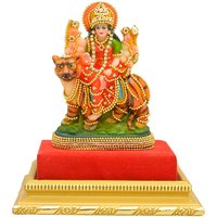 Papilon Hand Made Gold Plated Hindu Goddess Durga Maa Statue (Spiritual Idols) Dimension- 3.524.5 Inches