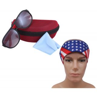 Black Red Dhoom Sunglass For Men With Headwrap