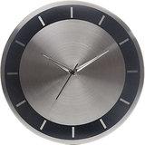 Beautiful Steel Wall Clock- Silver & Black