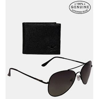 Bm fashion mens wallet combo with uv protection sunglas