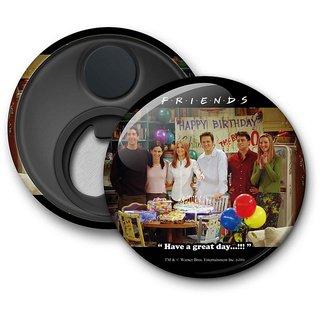 Official Friends -Happy Birthday Chandler Fridge Magnet licensed by Warner Bros