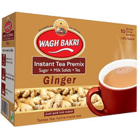 Wagh Bakri Instant Ginger Premix Carton Pack Tea - 140 gm (Added Sugar)