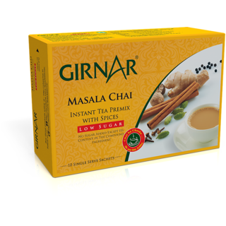 Girnar Instant Tea Premix With Masala (Low Sugar - 10 Sachets)