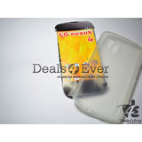 For LG Google Nexus 4 LG E960 Soft Silicone Gel Back Case Cover Transparent