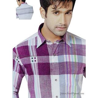 Cool & Charming New Men's Linen & Cotton Mix Unstitched Shirt (1113)