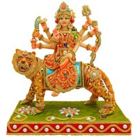 Papilon Hand Made Gold Plated Hindu Goddess Durga Maa Statue (Spiritual Idols) Dimension- 11611 Inches