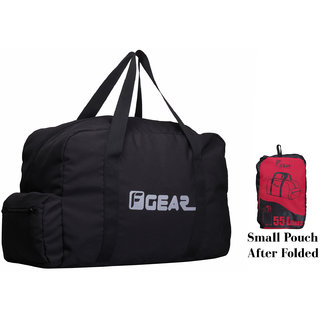 F Gear Voyager Foldable 55 liters Travel Duffle Bag(Black Red)