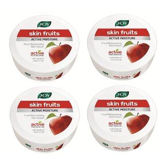 JOY Skin Fruits Active Moisture Fruit Moisturizing Skin Cream 800 ml (Pack of 4 x 200 ml)