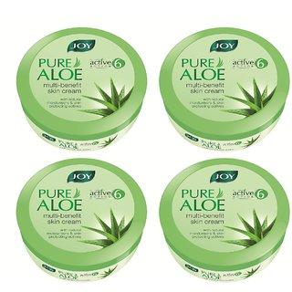 JOY Pure Aloe Multi-benefit Skin Cream 800 ml (Pack of 4 x 200 ml)