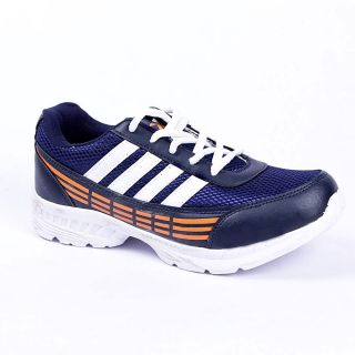 Foot 'n' Style Comfortable Blue & Orange Sports Shoes (fs440)