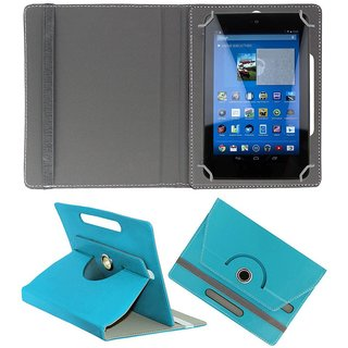 KOKO ROTATING 360 LEATHER FLIP CASE FOR OPlus XonPad 7 TABLET STAND COVER HOLDER SKY BLUE