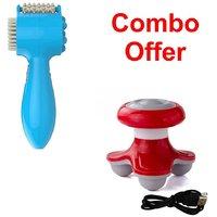 Deemark Multi Function Brain Comfort Massager  With Mini Massager Combo Pack