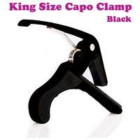 New Electric  Acoustic Guitar Quick Change Capo Tirgger Clamp Key Black