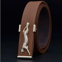 Brown Jaguar Buckle Belt At The Lowest Price In India