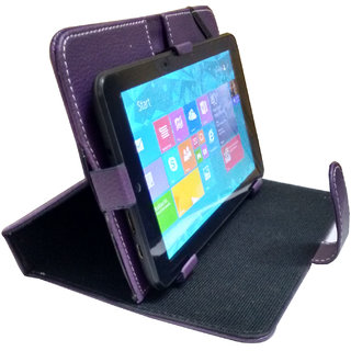 Colorkart 7 Inch Stand Case Flip cover for iBall Slide Stellar A2 - Purple