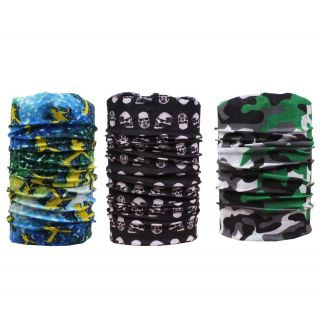Sushito 14 In 1 Multi Purpose Headwrap/Bandana Set Of Two JSMFHMA0552-JSMFHMA0569-JSMFHMA0661