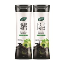 Joy Hair Fruits Conditioning Shampoo Shining Black Revitalizing (Amla  Black Grapes) 800 ml (Pack of 2 x 400 ml)