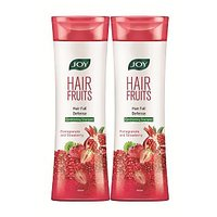 Joy Hair Fruits Conditioning Shampoo Hair Fall Defense (Pomegranate  Strawberry ) 800 ml (Pack of 2 x 400 ml)