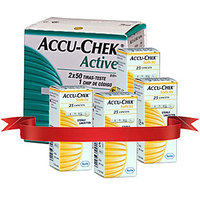 Accu Chek Active 100 Strips & 4 Pack Of 25'S Lancets Combo