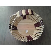 Wooden Fruit Basket With Handle By Simran