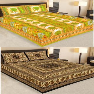 Pure Cotton Premium Jaipuri Sanganeri Double  Bed Sheet Set .... Buy 1 Get 1 Free