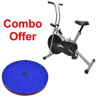 Deemark Air Bike 1001 With 5 in 1 Twister slimmer Combo Pack