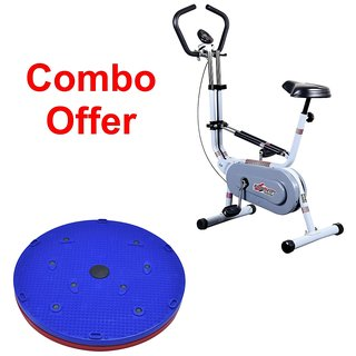 Deemark Exercise Bike 209 With 5 in 1 Twister slimmer Combo Pack