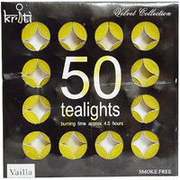 Kriti Set Of 50 Perfume Tea-LIGHTS In A Pack (Vailla)