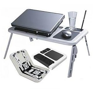 Foldable Laptop Table with 2 USB Fan available at ShopClues for Rs.490