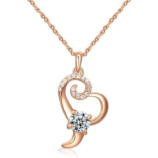 Kaizer Stunning Gold Plated Heart Pendent