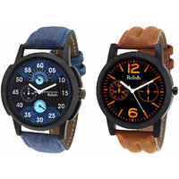 Relish Analog Round Casual Wear Watches Combo for Mens RELISH-1044C