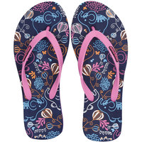 Fashion Forward ELEPHANT Womens Printed EVA Navy-Pink Flip Flops 6 UK