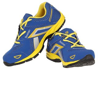 Bostan Men's Blue and Yellow Sport Shoes