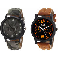 Relish Analog Round Casual Wear Watches Combo for Mens RELISH-1056C