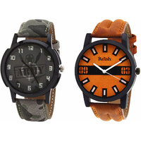 Relish Analog Round Casual Wear Watches Combo for Mens RELISH-1057C