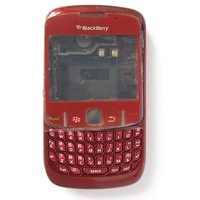 Blackberry 8520 Curve Housing Faceplate Cover Case Body - Red
